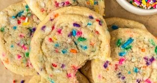 Vegan Funfetti Sugar Cookies