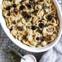 Vegan Truffle Pasta with Mushrooms