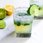 Tequila Smash with mint, lime, and lemon
