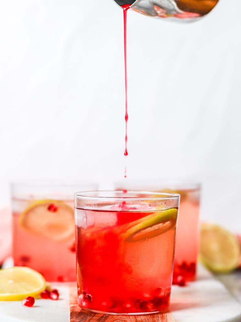 Pomegranate & Lemon Rosé Spritzers