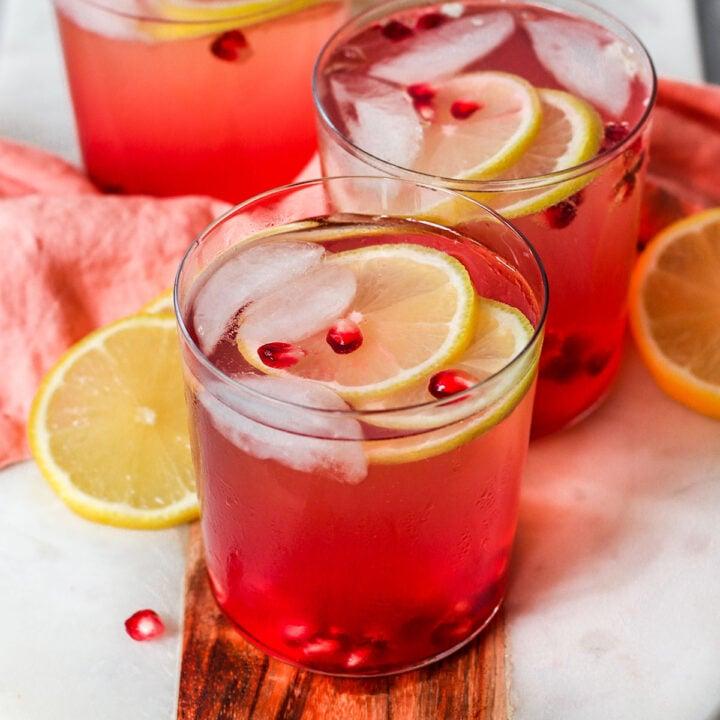 Pomegranate & Lemon Rosé Spritzer