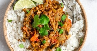 Vegan Eggplant and Lentil Curry