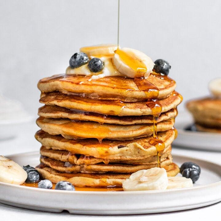 Vegan Banana Blender Pancakes