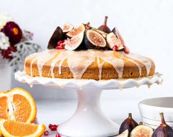 Vegan Orange Blossom Olive Oil Cake with Figs