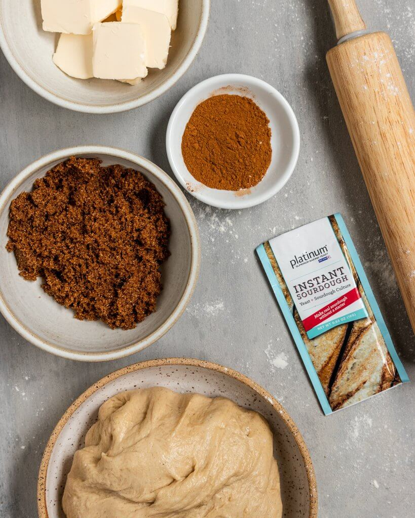 Vegan Sourdough Cinnamon Rolls Ingredients
