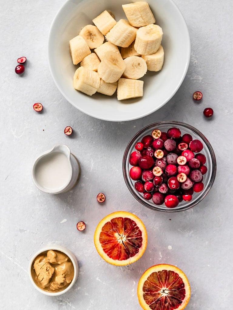 cranberry orange smoothie bowl ingredients