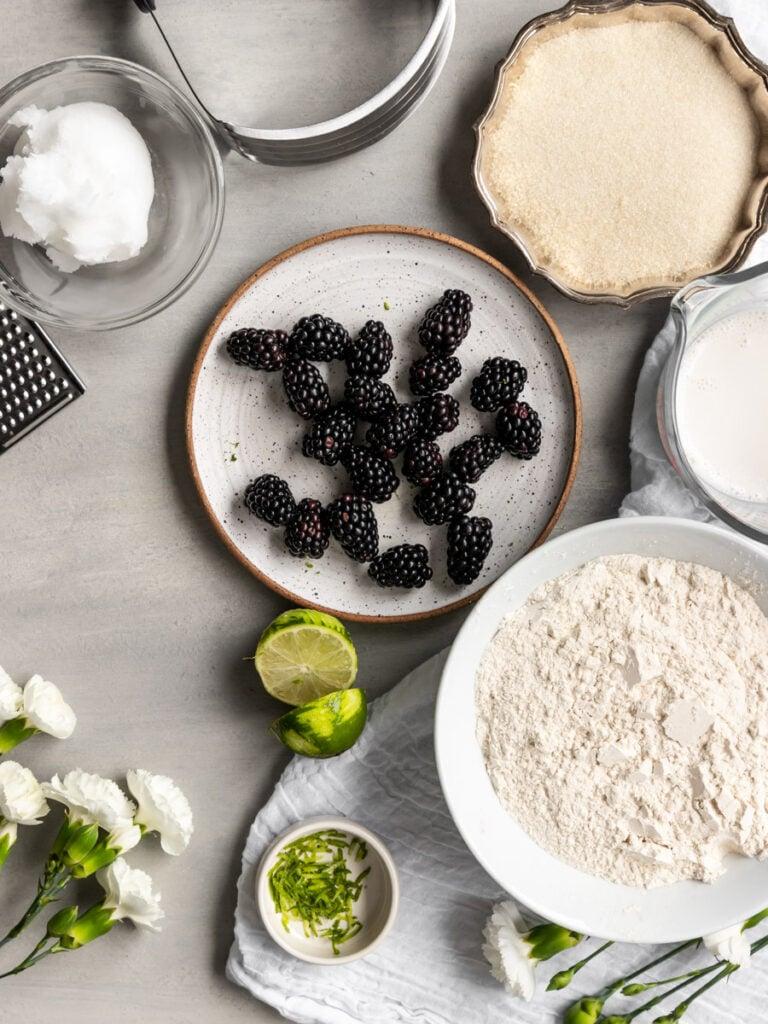 blackberry scone ingredients