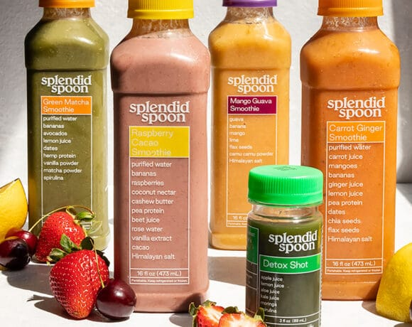 splendid spoon smoothies and detox shot with fresh fruit