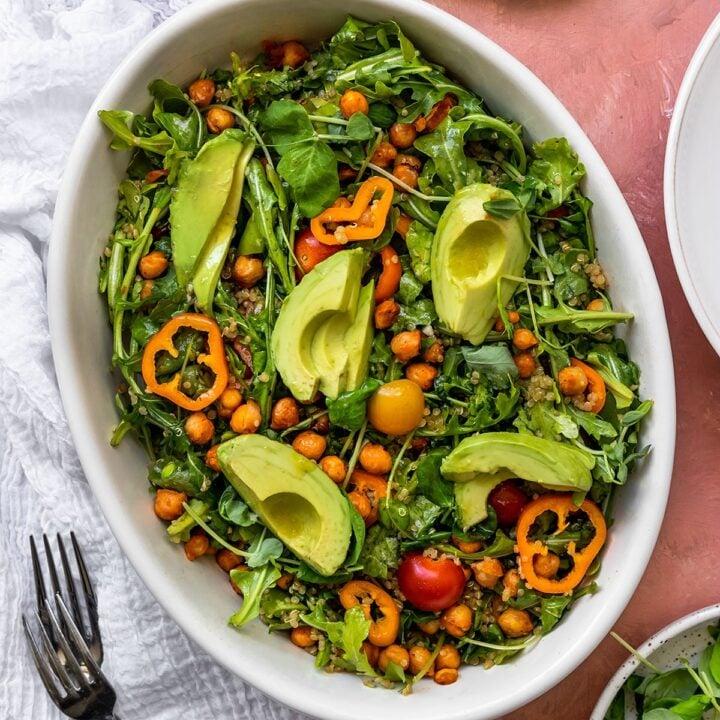Chickpea Quinoa Arugula Salad