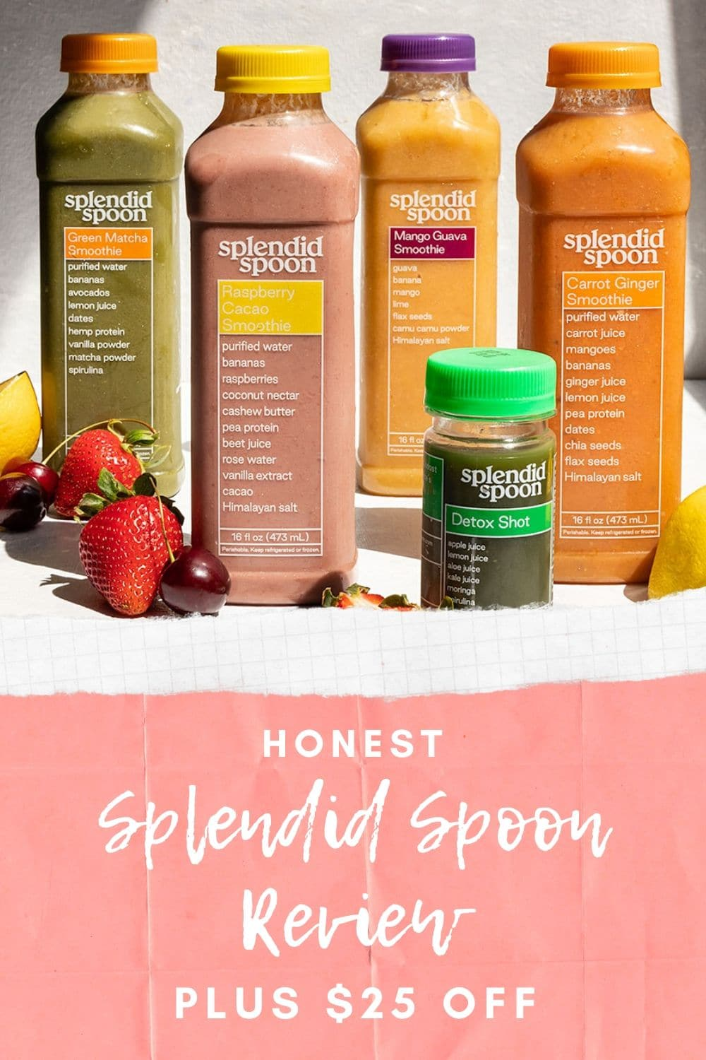splendid spoon review with picture of smoothies