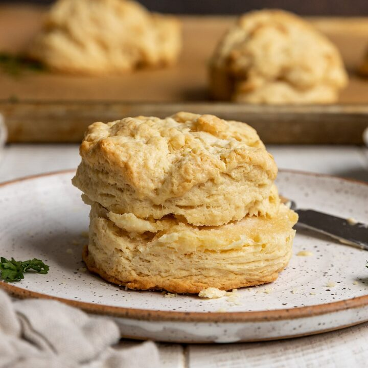 large biscuit on a plate