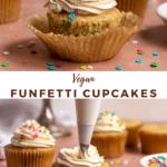 vegan funfetti cupcakes