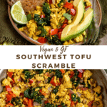 "image with text ""Vegan & GF Southwest Tofu Scramble"""