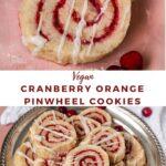 "cranberry cookies with txt ""vegan cranberry orange pinwheel cookies""."