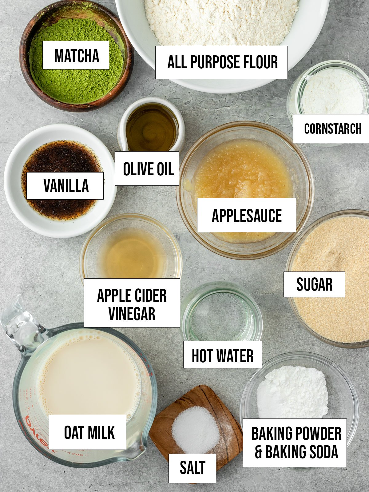 matcha bread labeled ingredients